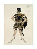 Costume for Darcon  from Daphnis and Chloe  C1912