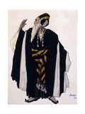Costume Design for a Jewish Elder for the Drama 'Judith'  1922 (Pencil  W/C and Gouache on Paper)