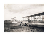 Leon Bollee Working on the Wright Brothers' Plane  C1909