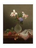A Vase of Corn Lilies and Heliotrope  1863