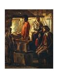 Blacksmith at His Forge  Ca 1640