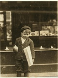 5 Year Old Newsboy Tommy Hawkins Only 3 Ft 4 Ins Tall  Working in St Louis  Missouri  1910