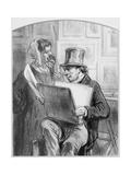Avant La Lettre  Plate 10 from Les Toquades  1858