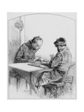 Les Cartes  Plate 20 from Les Toquades  1858