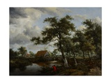 Wooded Landscape with Watermill  C1665