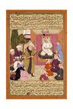 Shah 'Abbas En Route Between Sherwan and Azerbaijan  Receiving Sher Shah  C 1688