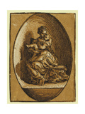 The Virgin in an Oval  Between Ca 1520 and 1700