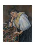 Young Italian Woman at a Table  C1895-1900