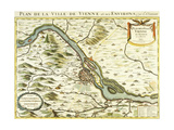 Map of the City of Vienna  1692