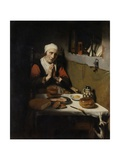 Old Woman Saying Grace  known as 'The Prayer Without End'  C1656