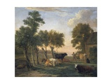 Landscape with Cattle  Painting by Paulus Potter (1625-1654)  Netherlands  17th Century