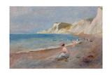 Varengeville Beach; La Plage De Varengeville  C 1880