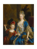 Portrait of Catherine Coustard  Marquise of Castelnau  with Her Son Leonor  C1699