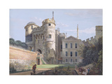 The Norman Gate and Deputy Governor's House (Gouache over Graphite on Paper)