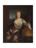 Portrait of Gabrielle Emilie Le Tonnelier De Breteuil  Marquise Du Chatelet