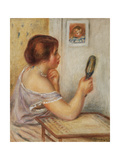 Gabrielle Holding a Mirror or Marie Dupuis Holding a Mirror with a Portrait of Coco  Early 1900S