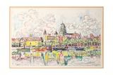 Ciboure  Saint-Jean-De-Luz  1920 (W/C over Chalk on Paper Laid Down on Board)
