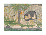 The Five Siddhas Make their Way to the Kailasha Mountains  C1820