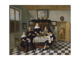 Family Group at Dinner Table  C1658-60