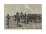 The Nile Expedition  a Column of Troops Starting across the Desert