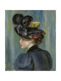 Young Woman with Black Hat  Jeune Femme Au Chapeau Noir  1895