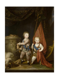 Portrait of Grand Dukes Alexander Pavlovich and Constantine Pavlovich  as Children  1781