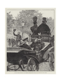 The Late German Emperor in His Carriage  with the Crown Prince  in the Unter Den Linden  Berlin