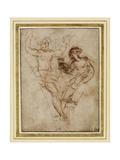 Psyche Presenting to Venus the Vase of Proserpine (Pen and Brown Ink over Red Chalk on Brownish Pap