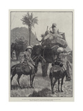Our Troops in Burmah  Mounted Infantry with Baggage Elephants Crossing the Shan Hills