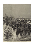 The Zulu War  Sailors of HMS Shah Crossing the River for the Relief of Ekowe