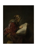 An Old Woman Reading  Probably the Prophetess Hannah  1631