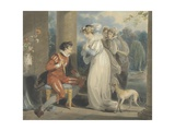 Rosebud  or the Judgement of Paris  1791 (W/C and Bodycolour over Graphite on Paper)