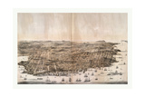 Bird'S-Eye View of San Francisco  California from Above the Bay Looking West  USA  America
