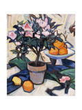 Pink Azalea and Oranges  C1913