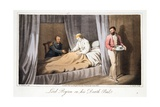 Lord Byron on His Death Bed  from the Last Days of Lord Byron by William Parry  Pub 1825