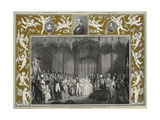 The Marriage of Queen Victoria and Prince Albert of Saxe-Coburg and Gotha at St James's Palace