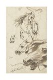 Study of Rider and Head of a Horse  1620-1