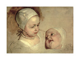 Princess Elizabeth and Princess Anne  Daughters of Charles I  1637
