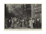 The Christening of H R H the Prince of Wales in St George's Chapel  Windsor Castle  25 January 1842