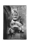 Carving of a Jester Holding an Owl  Toddington Manor  Gloucestershire
