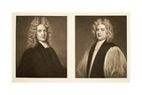Left: Henry Sacheverell DD Right: Francis Atterbury  Bishop of Rochester  Pub 1902 (Collotype)