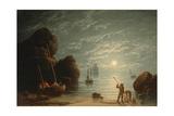 Moonlight Coastal Scene  1836
