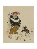 (Monkey Trainer and Dog)  Mid to Late 19th Century