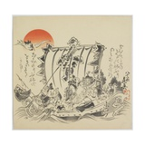The Seven Gods of Good Fortune in Treasure Ship  C 1887