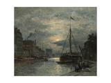 The Saint-Martin Canal at Moonlight; Le Canal Saint-Martin Au Clair De Lune