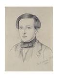 Portrait of Charles Allston Collins  1850 (Graphite on Discoloured Cream Paper)