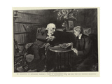Mr Gladstone at Hawarden  Playing a Game of Backgammon with His Son  the Reverend Stephen Gladstone