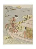 Woman Boarding a Boat  C 1767