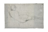 Recumbent Female Nude and Partial Study of a Second Female Figure  C 1855-1860