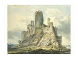 Conway Castle  C1793 (Watercolour  Touched with the Reed Pen  over Indications in Graphite)